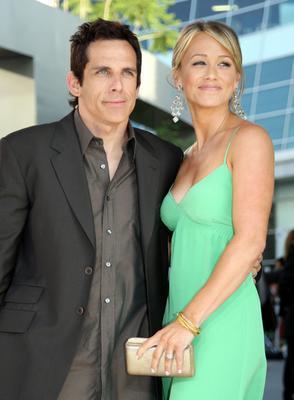 Ben Stiller and Christine Taylor Join the Vegan Club   One ... Ben Stiller Christine Taylor Wedding