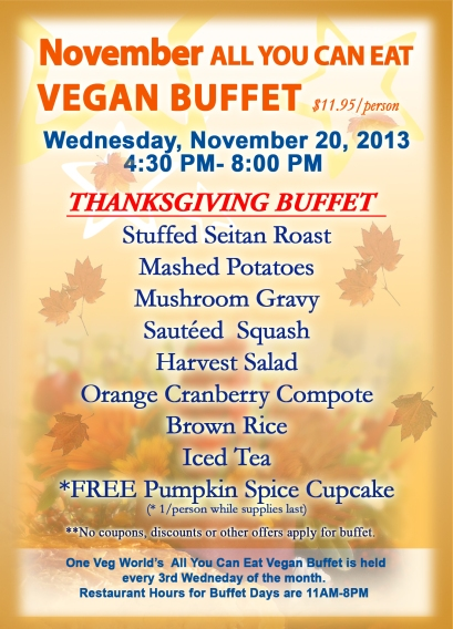 2013 NOV Buffet Postcard FRONT